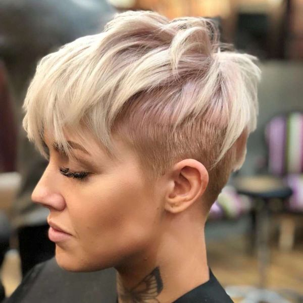 Cool Short Pixie Cut with Shaved Sides 3