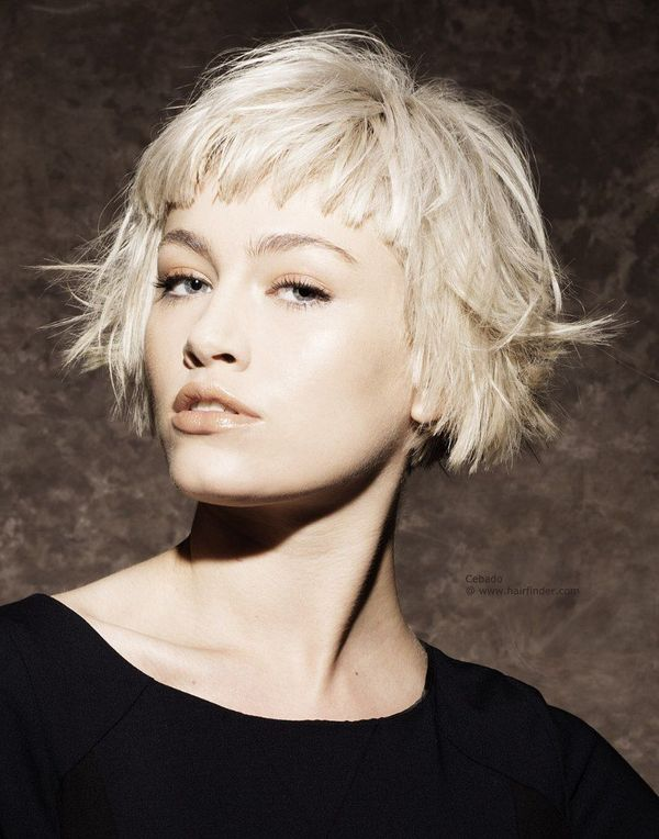 Cute Short Hairstyles with Bangs 1