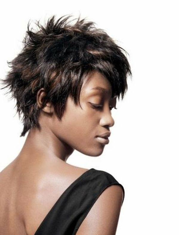 Messy short hairstyles for black women 2