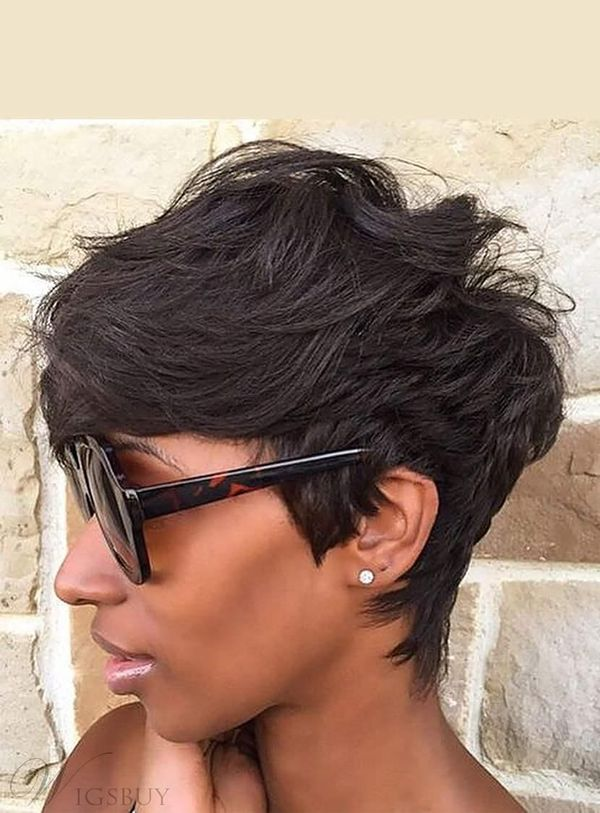 Messy short hairstyles for black women 3