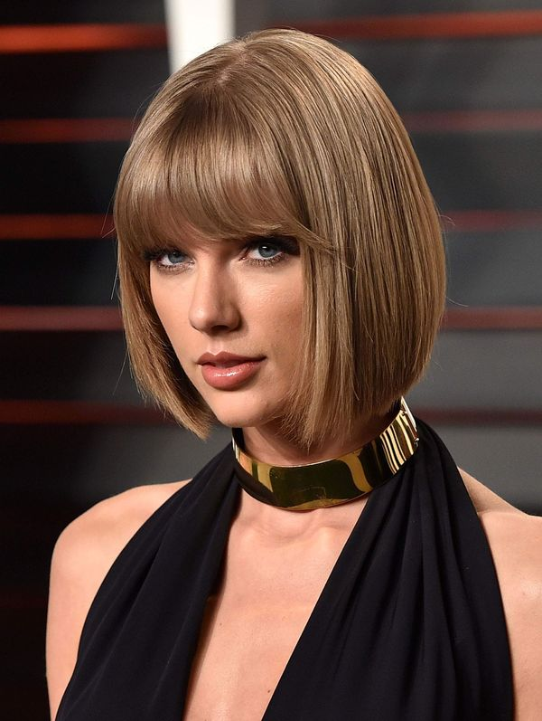 Short Length Hairstyles with Blunt Bangs 3