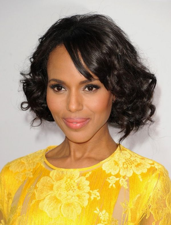Short wavy hairstyles for African American women 3
