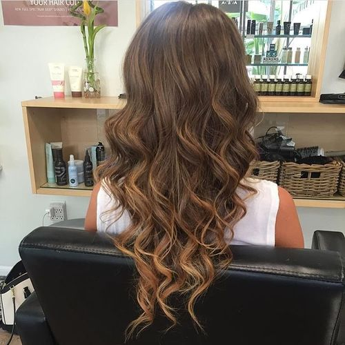 Cool Medium Brown Hair With Blonde Tips 2