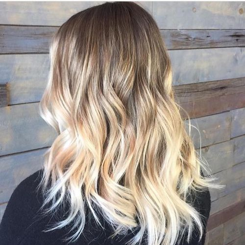 Classic Brown to Blonde Ombré 2