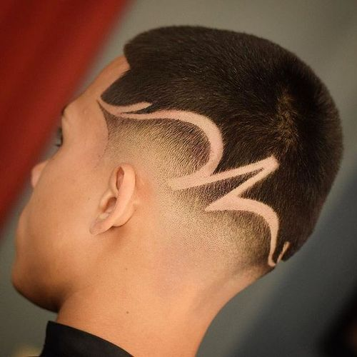 Great Boy Buzz Cut Hairstyles With Line 4