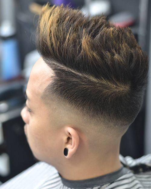Cool Taper Fade With Quiff 1