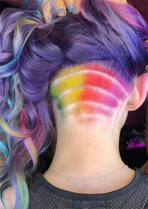 Dyed undercut for bright ladies 2