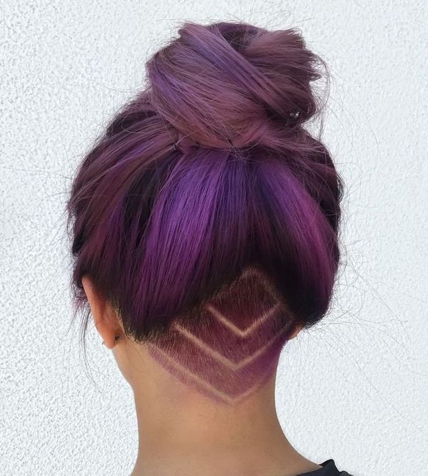 Dyed undercut for bright ladies 4