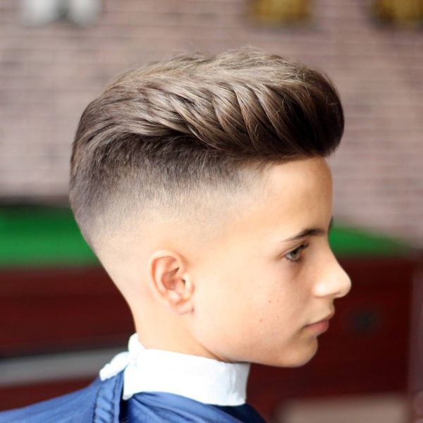 Eyecatching Long on Top Short on Sides Fade Haircut 1