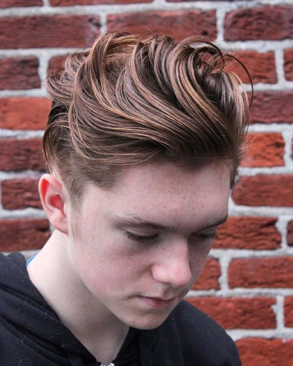 Male Styles with Hair Short on the Sides Long on the Top 3