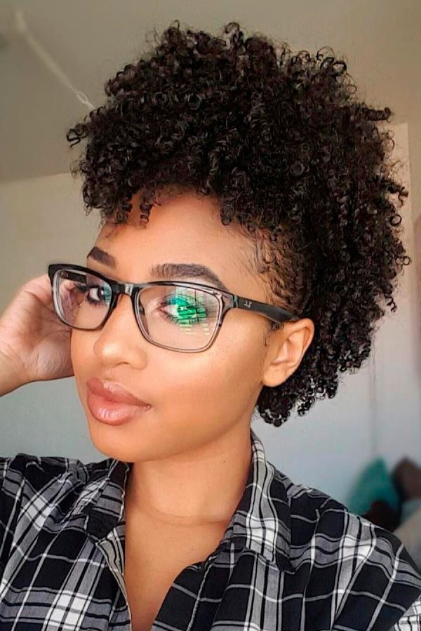 Cute Curly Mohawk Styles For Black Females 2