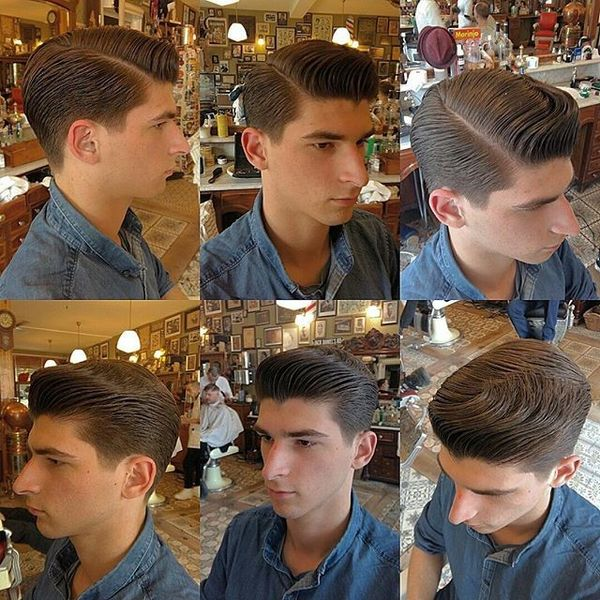 Natural Waves Greaser Hairstyle