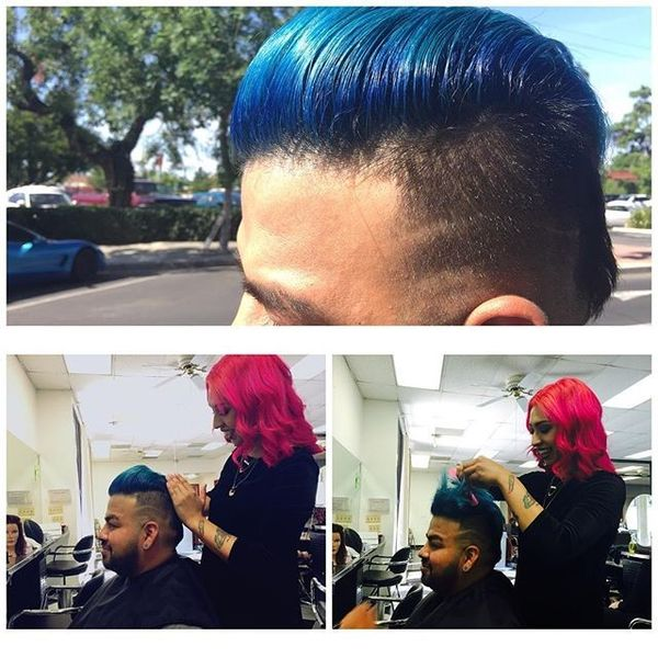 Cute Blue Pomp for You