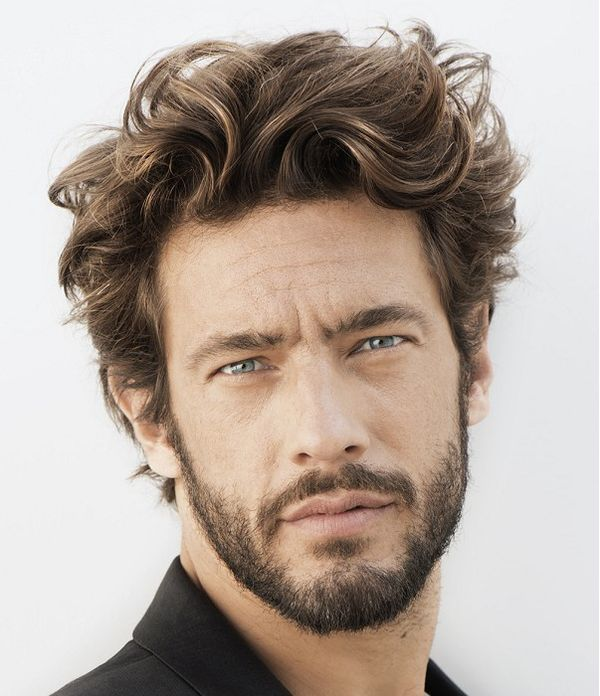Medium Length Hairstyles for Guys with Curly Hair 2