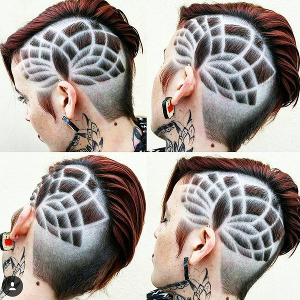 Creative Patterned Shaved-Sides-Long-Top0