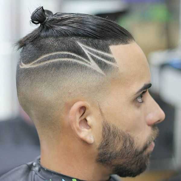 Different manbun styles for short hair 2