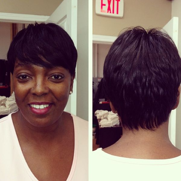 Textured Pixie Cut with Side Bangs0