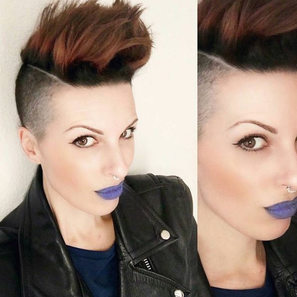Trending Mohawk Undercut in a Natural Brown0