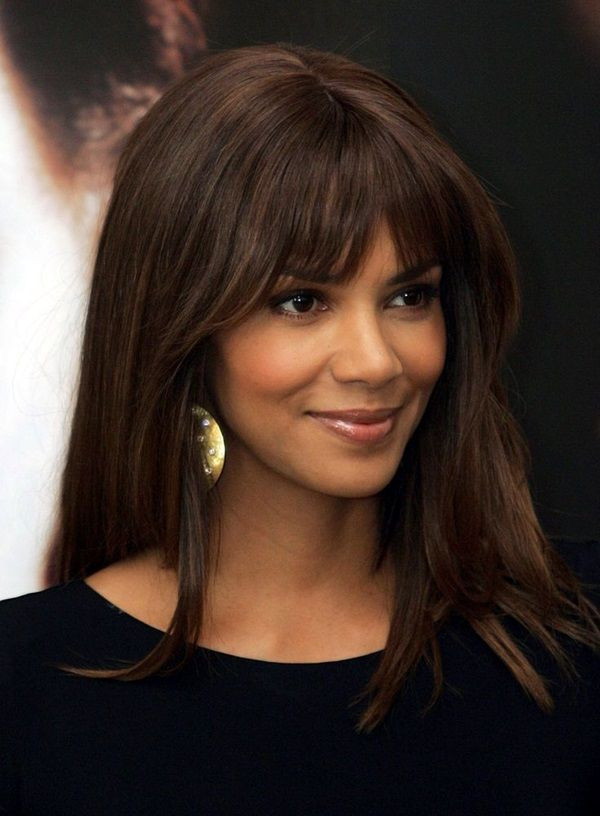 The Best Black Girl Long Hairstyles with Bangs 3
