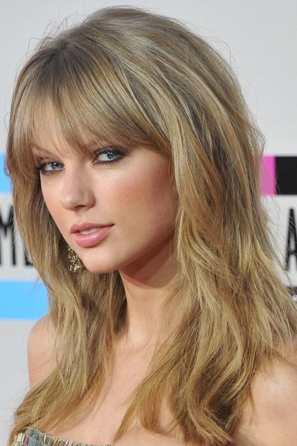 Ways to wear long layered hair with bangs 1