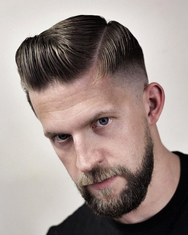 Awesome hairstyle with side parting for guys 5