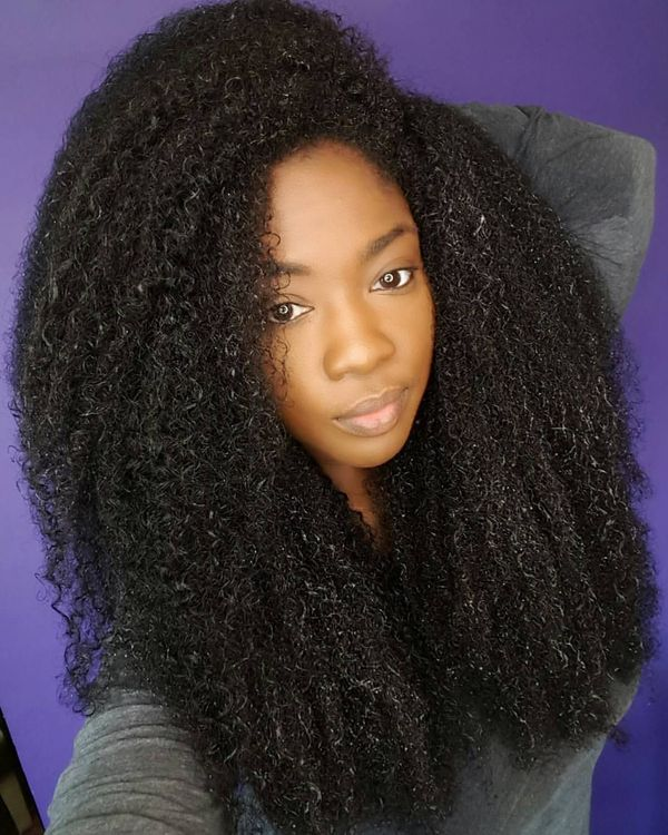 Trendy Long Hairstyles for Natural Black Hair 2