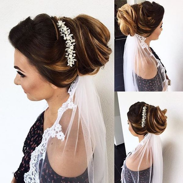 Beautiful Long Wedding Hairstyles With Veil13