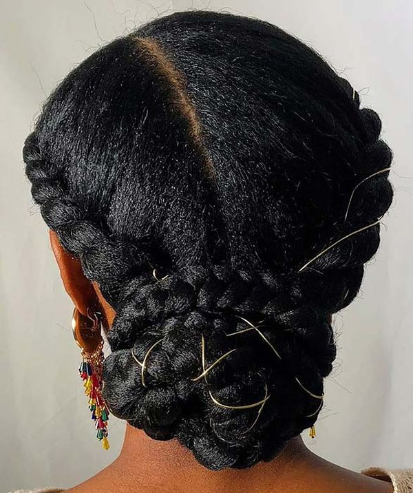 Cool Hairstyles for Long Natural Black Hair 4