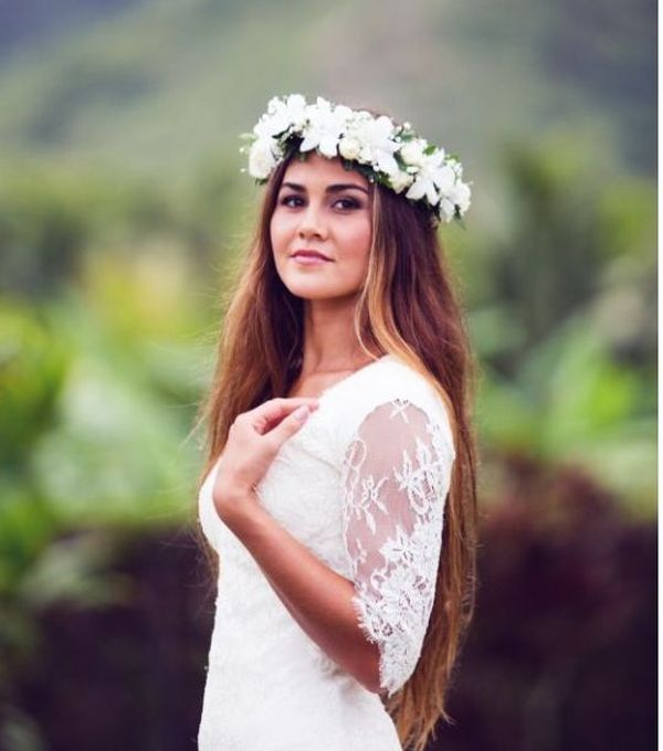 Simple Bridal Hairstyles For Long Straight Hair 1