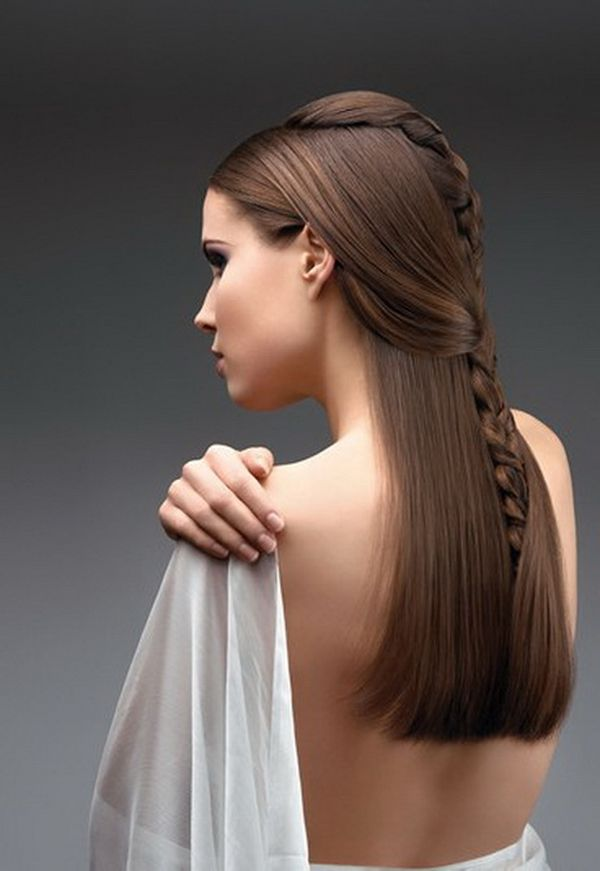 Simple Bridal Hairstyles For Long Straight Hair 2