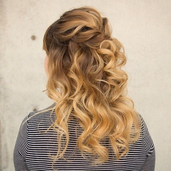 Easy to Do High Half Ponytail for Wavy Hair 1