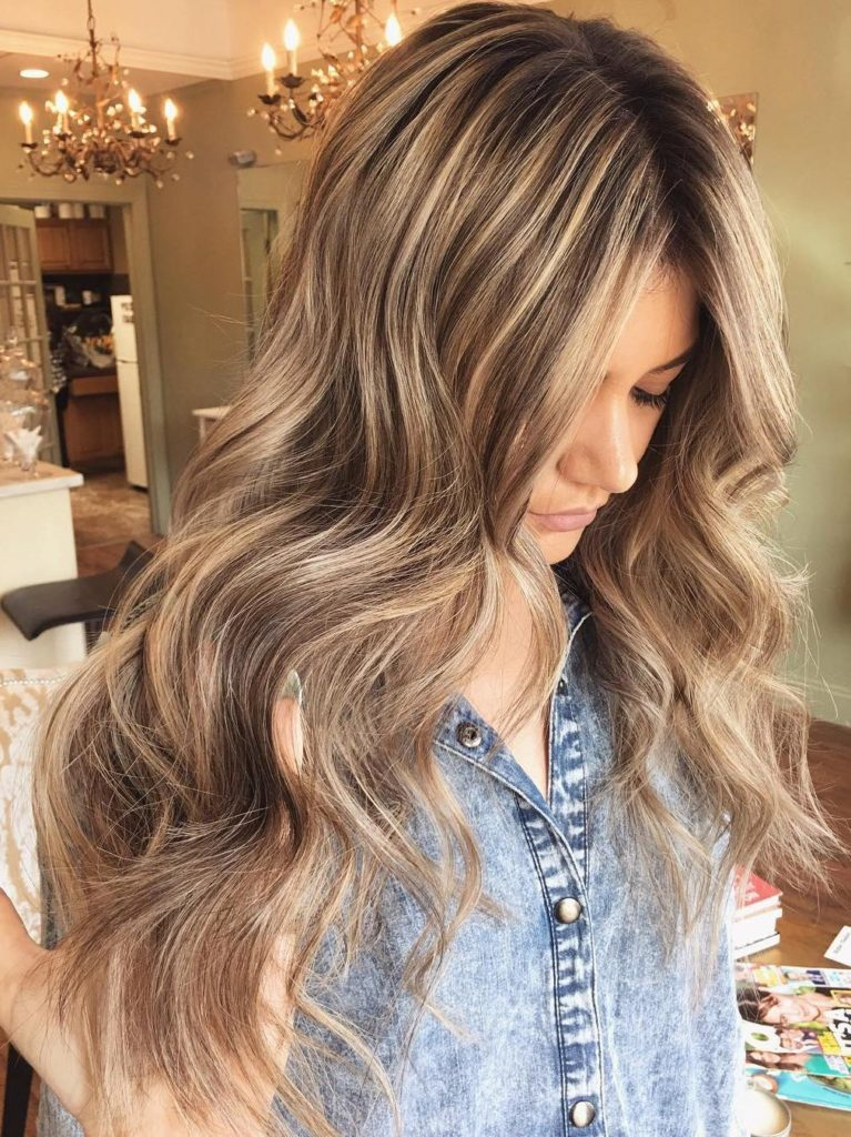 Chocolate Brown Hair With Blonde Highlights And Lowlights 3