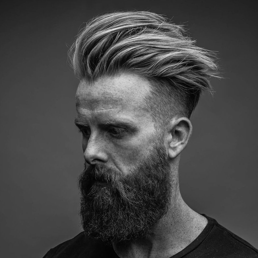 Sexy Mens Hipster Haircuts With Beard 2