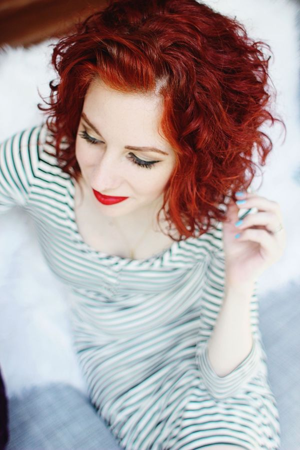 Awesome Short Curly Red Hair Styles 2