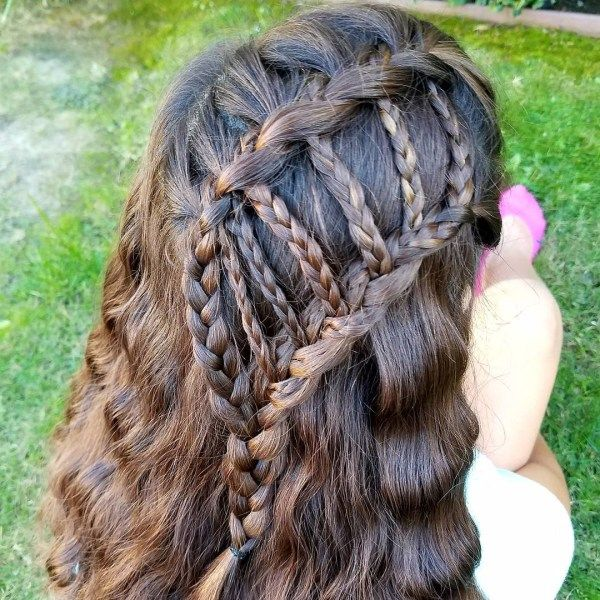 Beautiful long hair styles with braiding 1