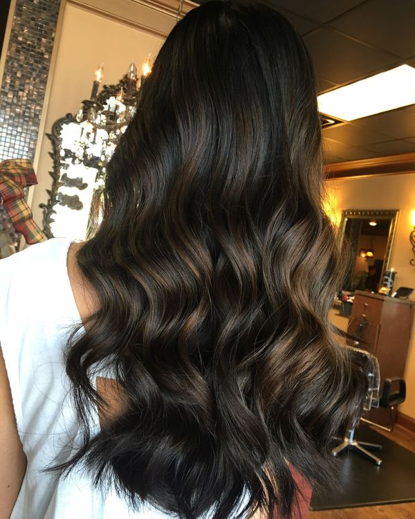 Brunette hair color with highlights 2