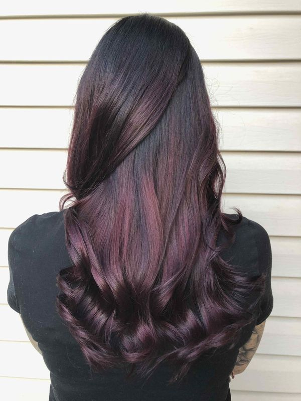 Burgundy Plum Hair Color 1
