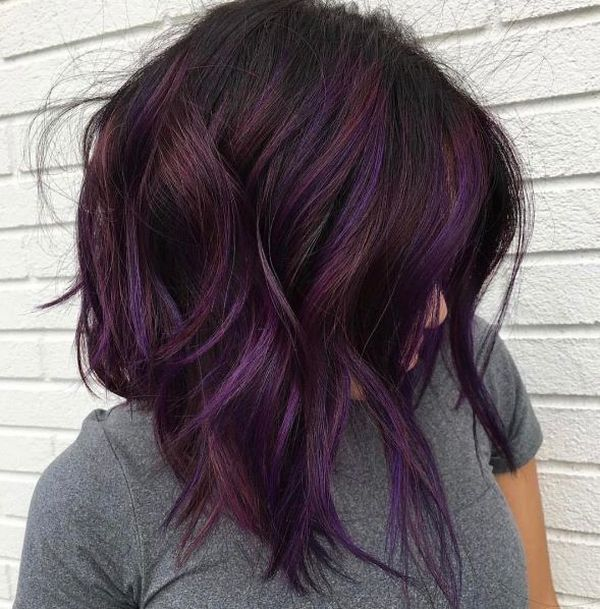 Burgundy Purple Hair 1