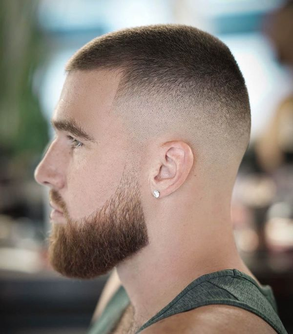 Buzz cut lined up haircut 3