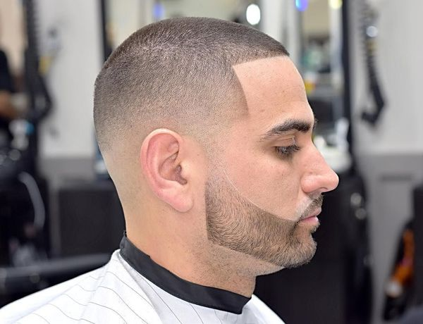 Buzz cut lined up haircut 4