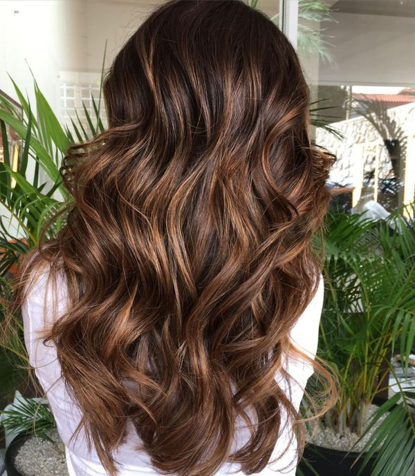 Chocolate brown hair with highlights 3