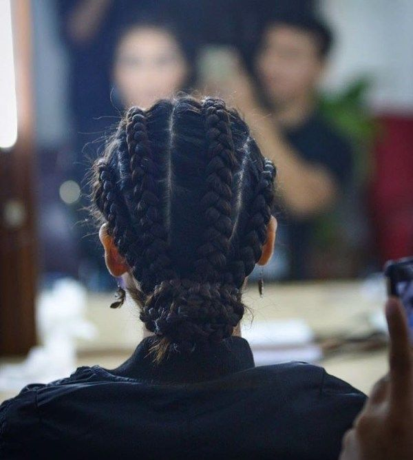 Cool African American braids for long hair 1