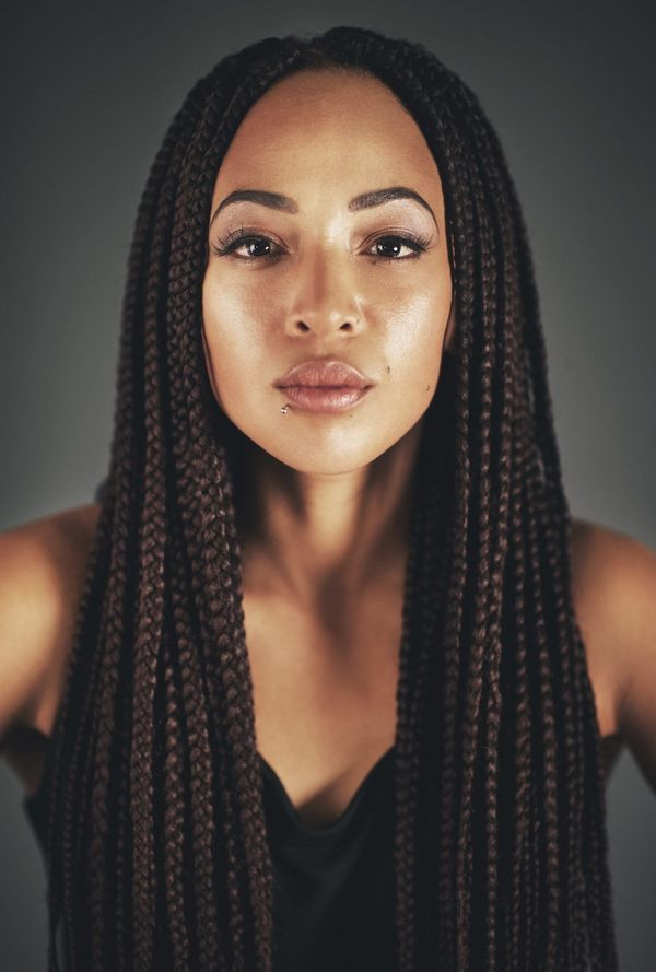 Cool African American braids for long hair 4