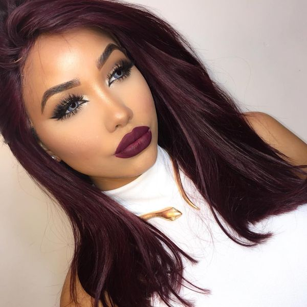 Dark Burgundy Hair Color 1