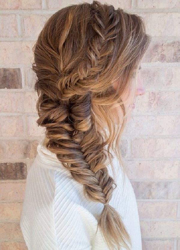 Fancy long braids for thick hair 1