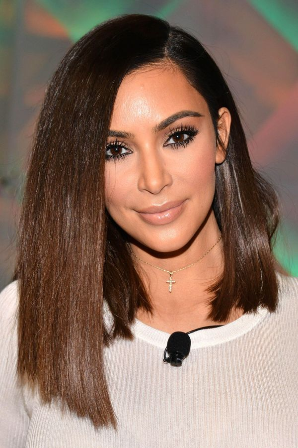 Ideas of long length bob with side part 2