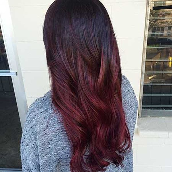 Images of Burgundy Ombre and Burgundy Balayage 3