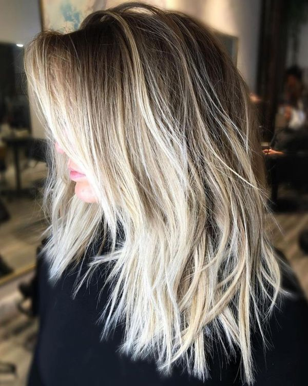 Long To Shoulder Length Bob Hairstyles With Layers 2