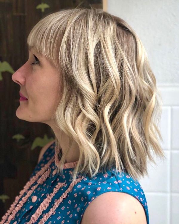 Long To Shoulder Length Bob Hairstyles With Layers 7