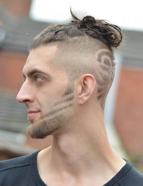 Male Braided Top Knot Hairstyles 4